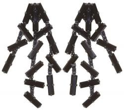 Серьги удлиненные на гвоздике Jumping Baguette