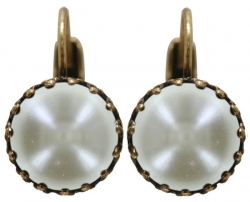 Серьги на еврозамке Vintage Pearl