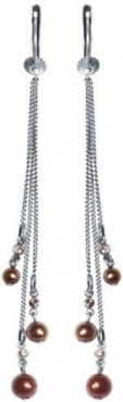 Серьги удлиненные Tie The Pearl
